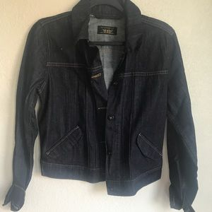 Levi's dark wash denim jacket medium